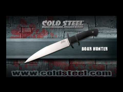 "Cold Steel Boar Hunter Fixed Blade Knife (8.75"" Satin) 39LSP"