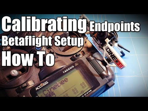 Frsky Taranis X9 Lite How To Calibrating Channel Endpoints in Betaflight Setup iFlight Cinebee 75HD