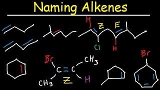 Naming Alkenes, IUPAC Nomenclature Practice, Substituent, E Z System, Cycloalkenes Organic Chemistry