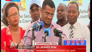 I personally do not support the pulling down of Joho's billboards, Hassan Omar
