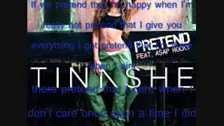 Pretend Tinashe ft Asap Rocky CLEAN with LYRICS
