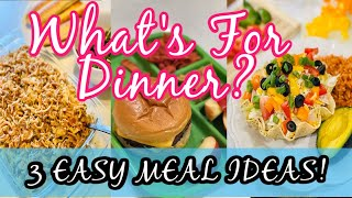 What's For Dinner? 3 Easy Budget Friendly Meal Ideas!