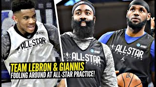 Team LeBron & Team Giannis Fooling Around at NBA All-Star Practice!!