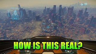 How Is This Real?! Star Citizen 3.5 Arc Corp City Planet