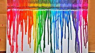 DIY: Crayon Melting Art