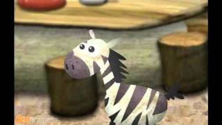 sprost� �irafa a zebra