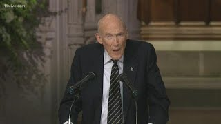 Alan Simpson's eulogy to his 'dear friend' President George H.W. Bush