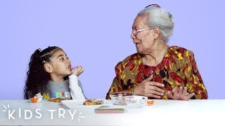 Kids Share Their Favorite Snacks With Their Great Grandparents | Kids Try | HiHo Kids