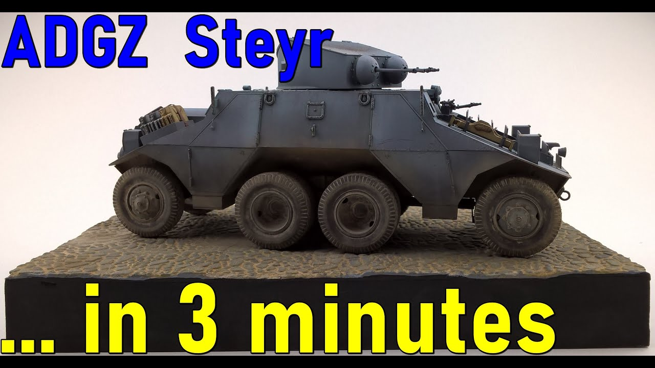 #8 … in 3 minutes – ADGZ – Steyr scale 1/35 – model build