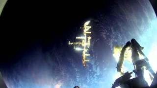 Soyuz spacecraft docking to the ISS