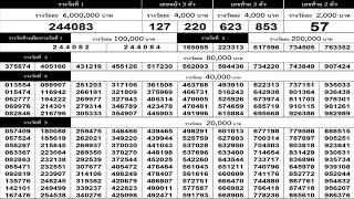 ใบตรวจหวย 16/9/63 เรียงเบอร์งวดล่าสุด 16 กันยายน 2563