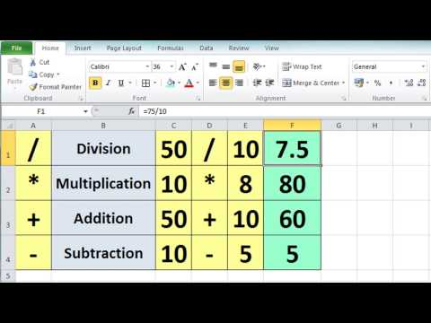 Excel 2010 Tutorial For Beginners #3 – Calculation Basics & Formulas (Microsoft Excel)