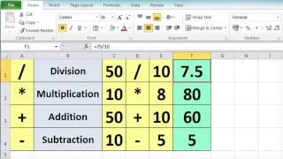 Excel 2010 Tutorial For Beginners #3 - Calculation Basics & Formulas (Microsoft Excel)