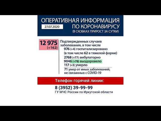 Режим самоизоляции в Иркутской области продлён до 1 августа