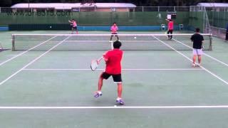ソフトテニス日本代表選考会2015 二次 男子 ウォーミングアップ3