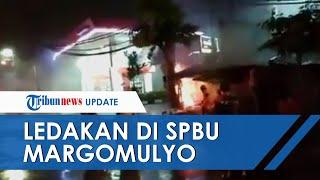 Detik-detik Kebakaran Terjadi di SPBU Margomulyo Surabaya, Sempat Terdengar 4 Kali Ledakan