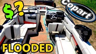 I Bought A Wrecked & Flooded Super Boat From Copart Lets Unflood It?