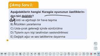 Eğitim Vadisi AYT Edebiyat 27.Föy Geleneksel Türk Tiyatrosu Konu Anlatım Videoları