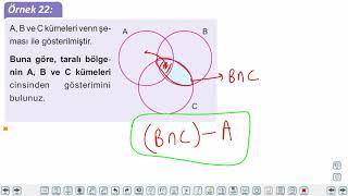 Eğitim Vadisi 9.Sınıf Matematik 5.Föy Kümeler 2 Konu Anlatım Videoları