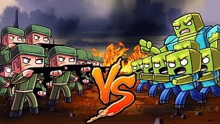Minecraft | 1000 ZOMBIES VS 150 WW2 SOLDIERS! (Zombie Apocalypse Massive Mob Battles)