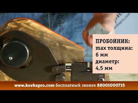 Гильотина-пробойник из набора для холодной ковки STALEX W2