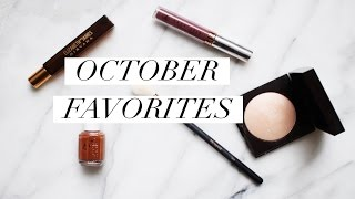 October Favorites 2016
