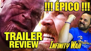 TRAILER 2 INFINITY WAR REACCIÓN REACTION - MARVEL - DISNEY - THANOS