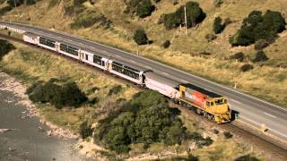 preview picture of video 'Coastal Pacific Train Journey between Christchurch and Picton, New Zealand'