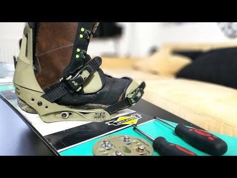 Snowboardbindung richtig einstellen / montieren