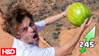 DROPPING WATERMELON from Higher Than 45FT!!