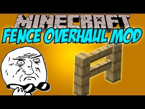 FENCE OVERHAUL MOD - No vas a creer!! lo que hace este mod! - Minecraft mod 1.8.9 Review ESPAÑOL