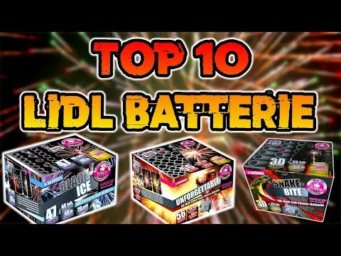 TOP 10 BESTE LIDL BATTERIEN | FEUERWERK | Silvester2k