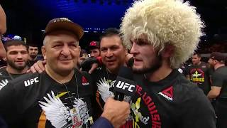 UFC 242: Khabib Nurmagomedov and Dustin Poirier Octagon Interviews