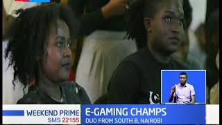Dennis Amatta And Jean Jelimo become the E-Gaming champs