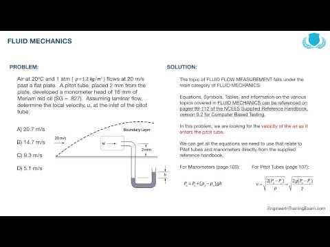 FE Exam Practice Problem - Fluid Mechanics - YouTube