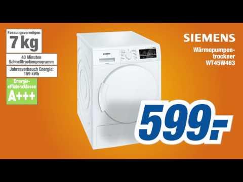 expert KW40 Angebot der Woche Siemens Waermepumpentrockner WT45W463