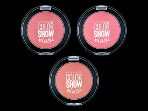 MAYBELLINE COLORSHOW BLUSH SWATCH + REVIEW