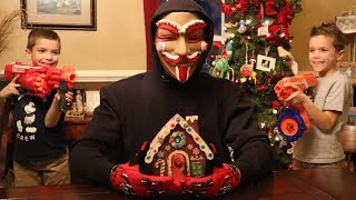 Nerf War : The Game Master Is The Gingerbread Man?
