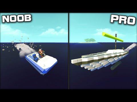 NOOB vs PRO Boat Racing Challenge! (Scrap Mechanic Gameplay)