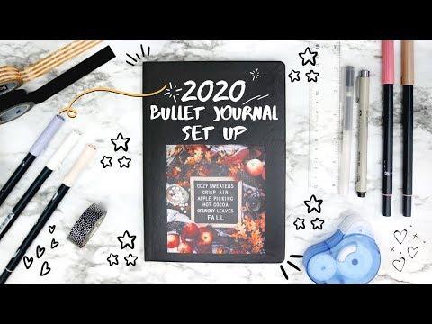 Simple 2020 Bullet Journal Set Up