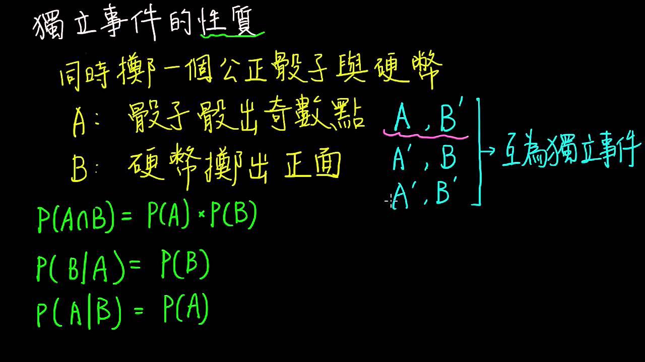 高一下數學3-3B觀念04獨立事件的性質   條件機率與貝氏定理   均一教育平臺