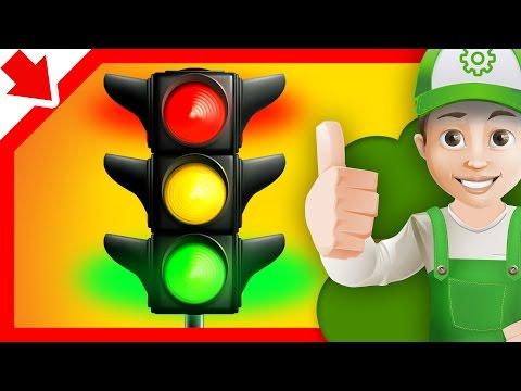 Semáforo Dibujos de coches. Aprender los colores en español.Carros para niños en español.