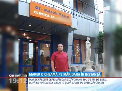 Doctorul Marek Vâlcu o cheamă în instanță pe Mărioara Zăvoranu