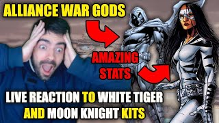 NEW ALLIANCE WAR GODS?!?   FIRST REACTION TO WHITE TIGER AND MOON KNIGHT KITS   STRIKE FORCE   MSF