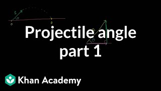 Optimal angle for a projectile part 1