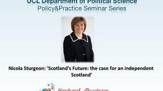 Feb 2014 - Nicola Sturgeon: 'Scotland's Future""