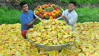 1000 PACKET MAGGI NOODLES   Noodles Recipe cooking Skill   Village Style Cooking