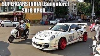 SUPERCARS IN INDIA - April 2018 (Bangalore) - 488 GTB, 911 Turbo, Huracan & more