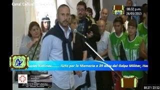 preview picture of video 'Cañuelas Noticias's Stream,Homenaje a Esteban  Reimer Desaparecido en Cañuelas  Memoria'