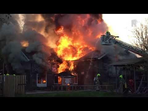 Outdoor Valley Bergschenhoek zwaar getroffen door brand